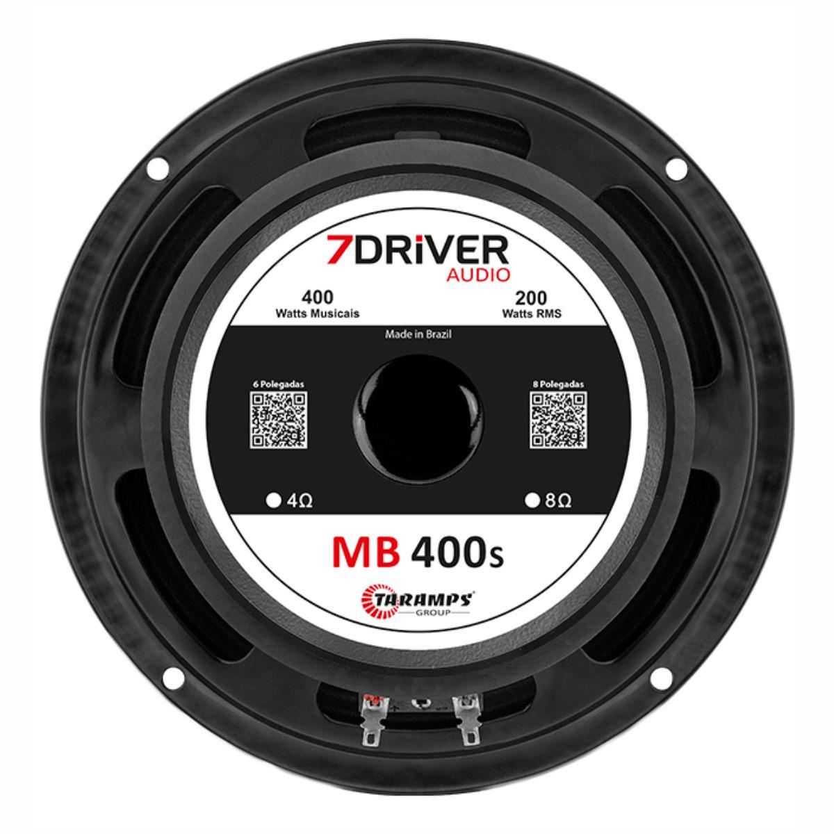 """Alto Falante Woofer 7Driver 8"""" MB 400S 200W Rms 4 Ohms"""