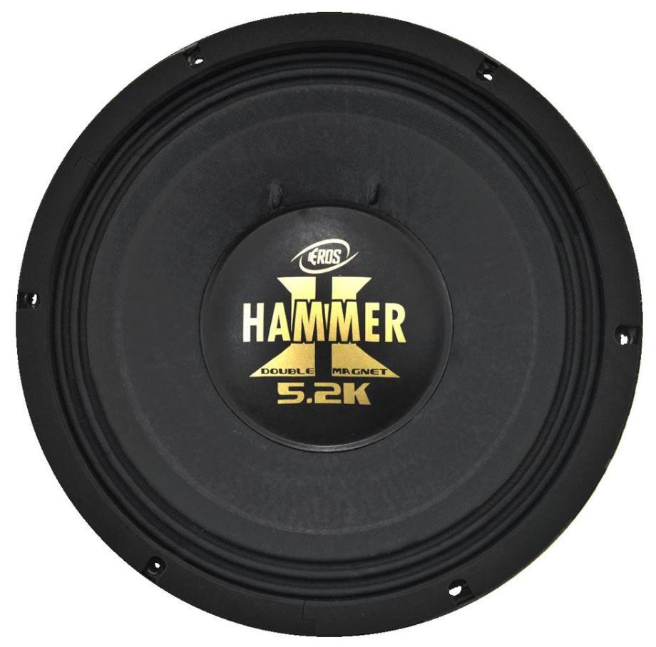 """Alto Falante Woofer Eros 12"""" E12 Hammer 5.2K 2600W Rms 4 Ohms"""