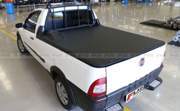 Capota Marítima Fiat Strada Cabine Simples Sem Gancho, Com Estepe e Com Grade 1998 1999 2000 2001 2002 2003 2004 2005 2006 2007 2008 2009 2010 2011 2012 2013