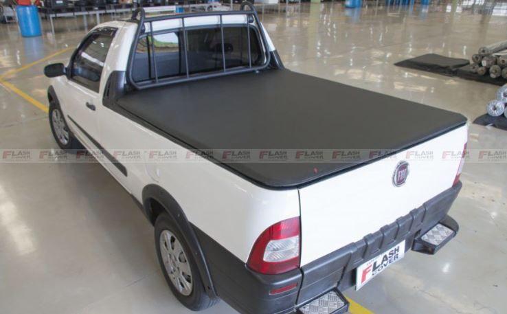 Capota Marítima Fiat Strada Cabine Simples Sem Gancho, Sem Estepe e Com Grade 1998 1999 2000 2001 2002 2003 2004 2005 2006 2007 2008 2009 2010 2011 2012 2013