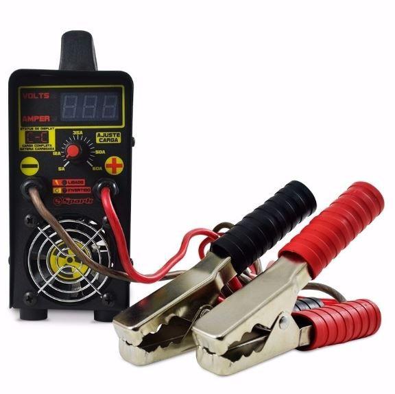 Carregador Usina Charger 60A Bivolt com voltímetro e amperímetro Smart Cooler