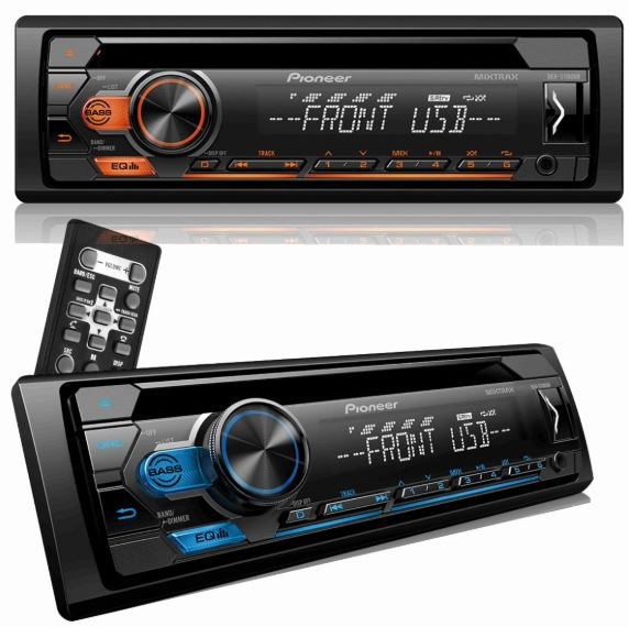 CD Player Automotivo Pioneer Deh- S1180UB Controle Usb Aux Mixtrax
