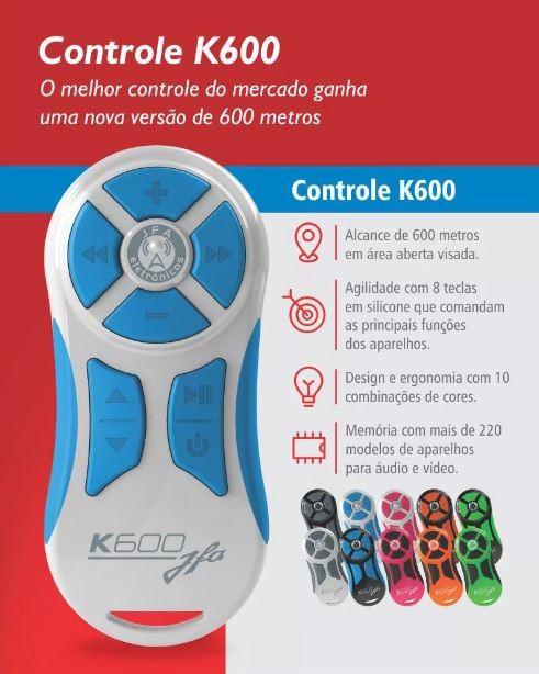Controle Longa Distancia JFA K600 Branco com Botão Azul 600 Metros