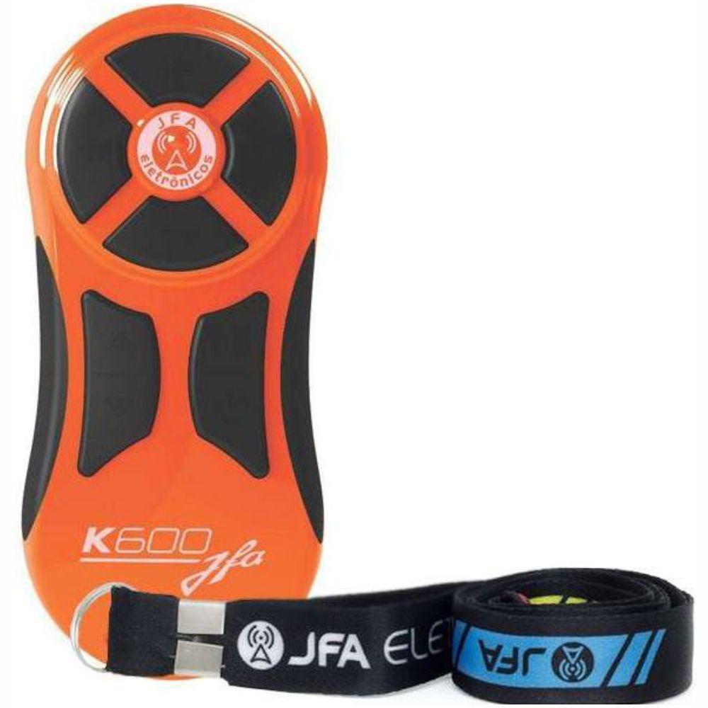 Controle Longa Distancia JFA K600 Laranja com Botão Preto 600 Metros