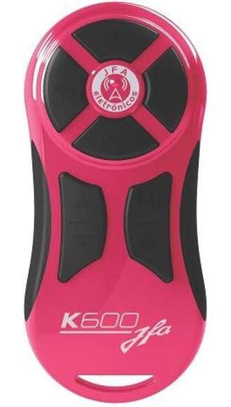 Controle Longa Distancia JFA K600 Rosa com Botão Preto 600 Metros