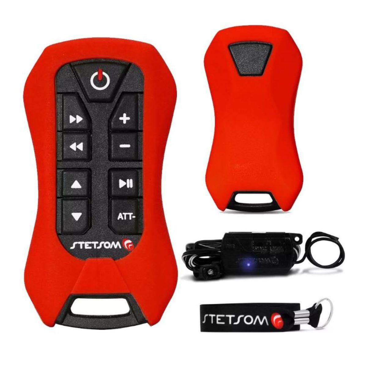 Controle Longa Distancia Stetsom SX2 Light Vermelho com Botão Preto