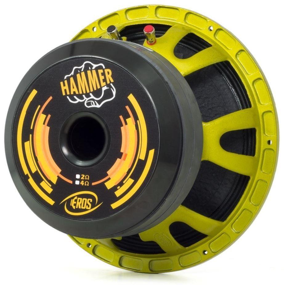 """Alto Falante Woofer Eros 12"""" E12 Hammer 7.2K 3600W Rms 2 Ohms"""