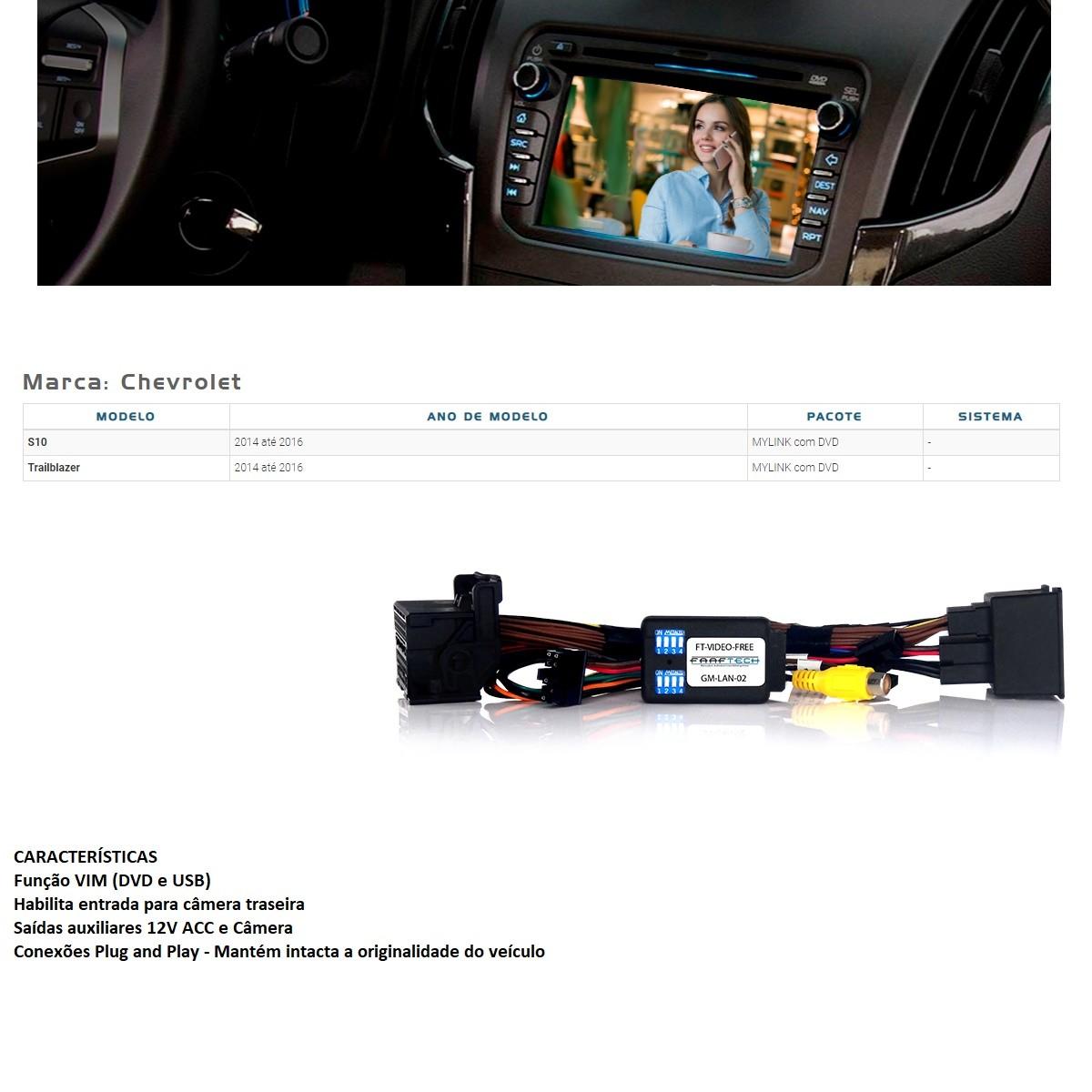 Desbloqueio de Multimídia Faaftech FT-VF-GMLAN02 para Chevrolet GM S10 e Trailblazer 2014 2015 2016 Mylink