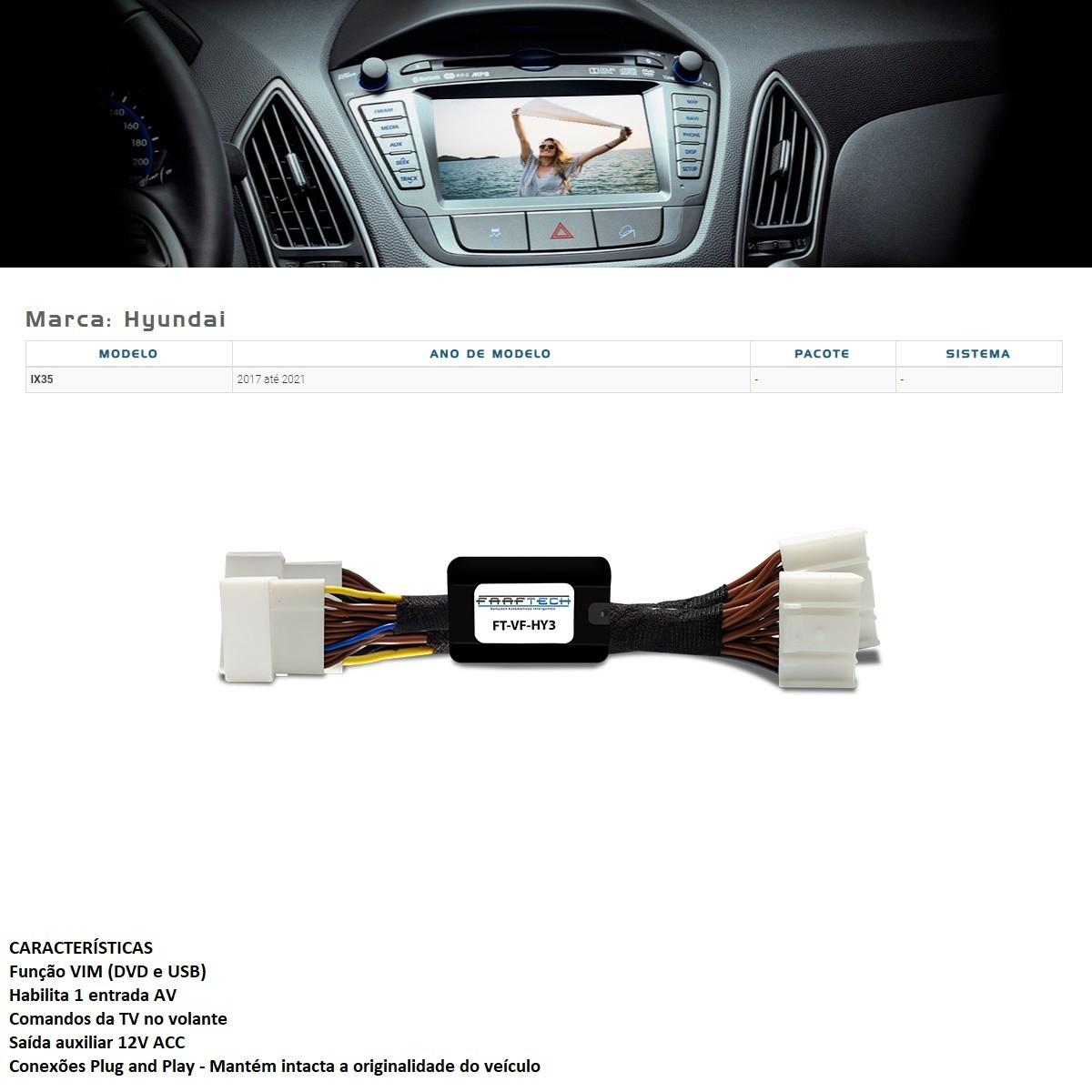 Desbloqueio de Multimídia Faaftech FT-VF-HY3 para Hyundai IX35 2017 2018 2019 2020 2021