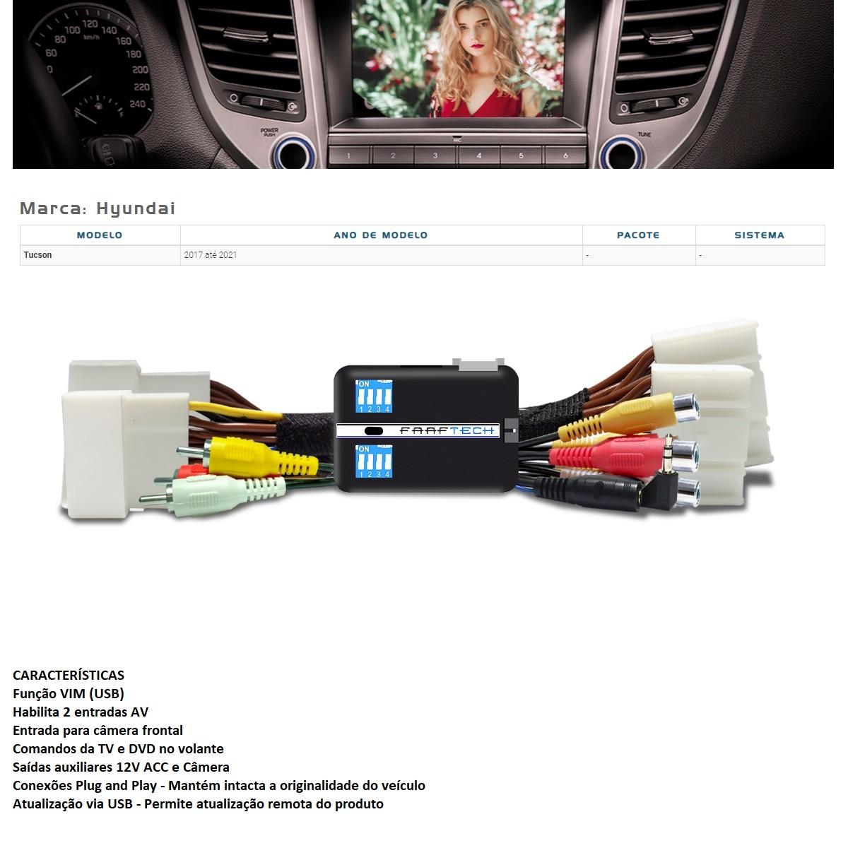 Desbloqueio de Multimídia Faaftech FT-VF-HY4 para Hyundai Tucson