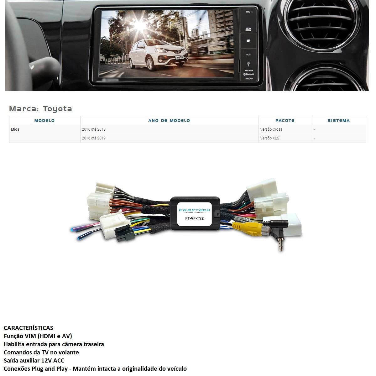 Desbloqueio de Multimídia Faaftech FT-VF-TY2 para Toyota Etios