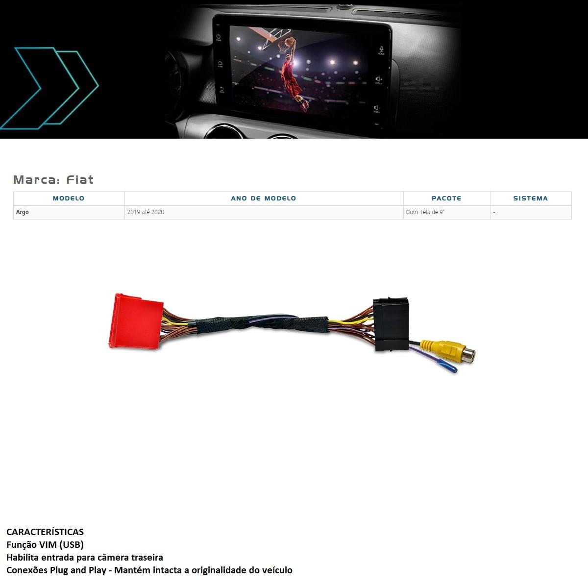 """Desbloqueio de Multimídia Faaftech FT-VF-UC3 para Fiat Argo 2019 2020 com tela de 9"""""""