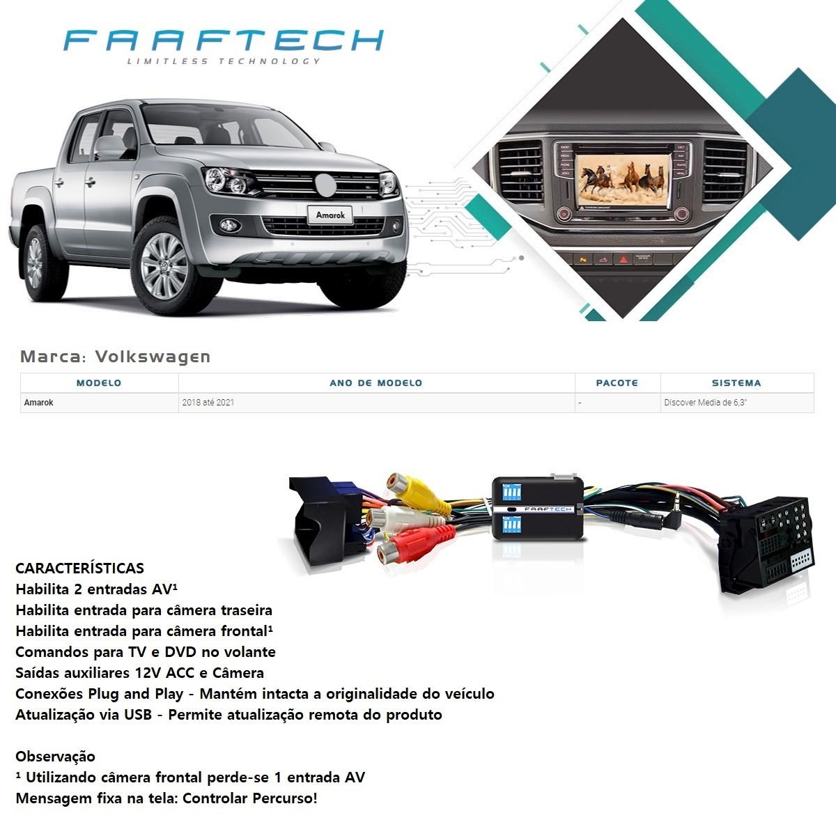 Desbloqueio de Multimídia Faaftech FT-VF-VW5 para Volkswagen VW Amarok 2018 2019 2020 2021