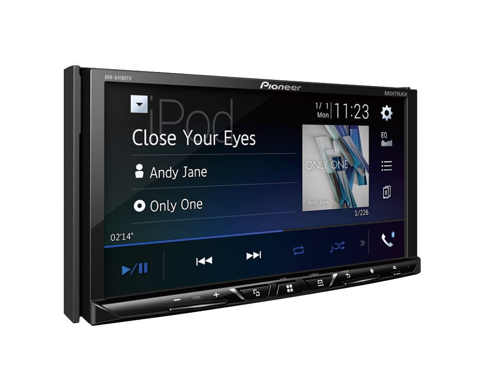 "Dvd Player Pioneer Avh-A 4180 Tv 7"" 2 Din Tv Usb Bluetooth Aux"
