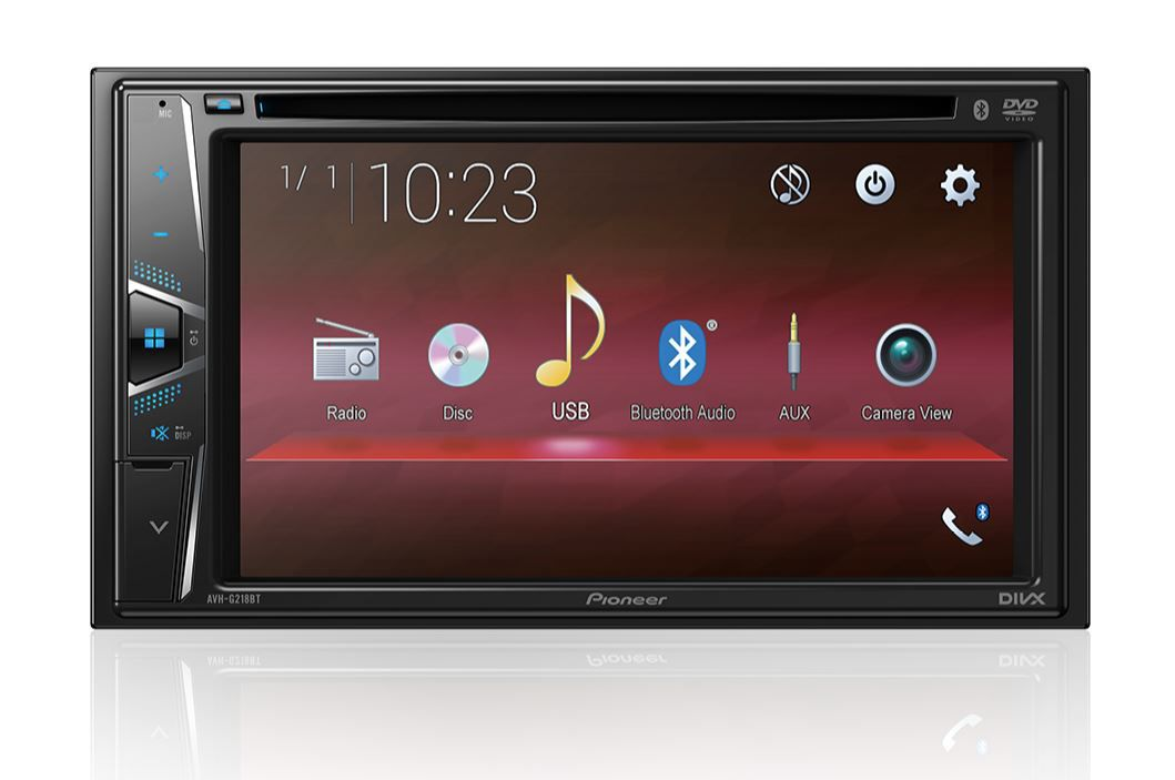 "Dvd Player Pioneer Avh-G218bt 6,2"" 2 Din Usb Bluetooth Aux"