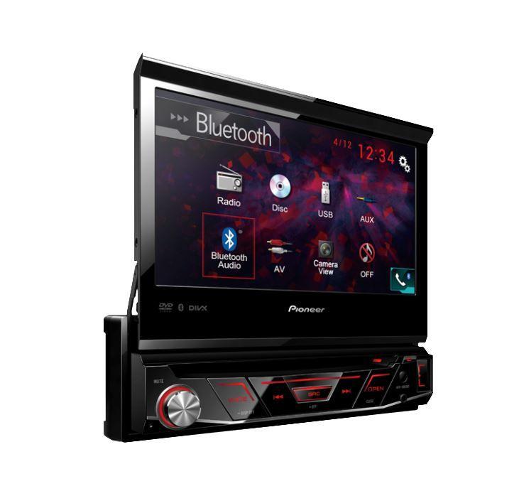 """Dvd Player Retrátil Pioneer Avh-z 4880 Bt 7"""" Usb Bluetooth Aux"""