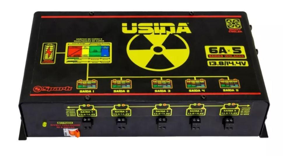 Fonte Carregador Usina Hi-Volt 5 Saídas de 6 Amperes Bivolt Smart Charger