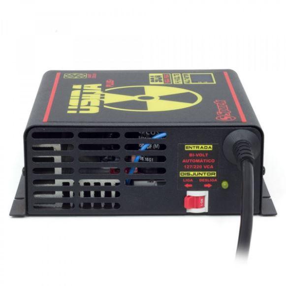Fonte Carregador Usina Plus+ 90A Bivolt com voltímetro e amperímetro Smart Cooler