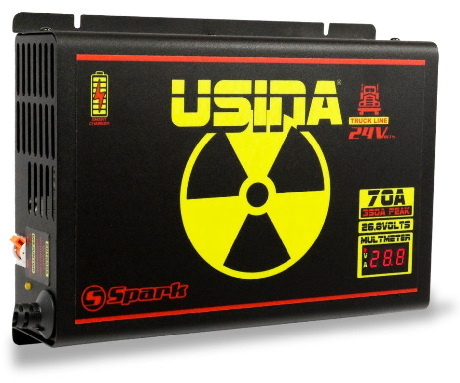 Fonte Carregador Usina Truck line 24 Volts 70A Bivolt com voltímetro e amperímetro Smart Cooler