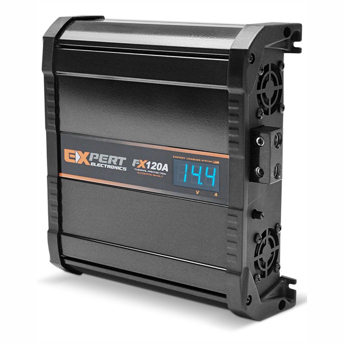 Fonte e Carregador Expert FX120A 120 Amperes 12 Volts com Voltímetro e Amperímetro Bivolt