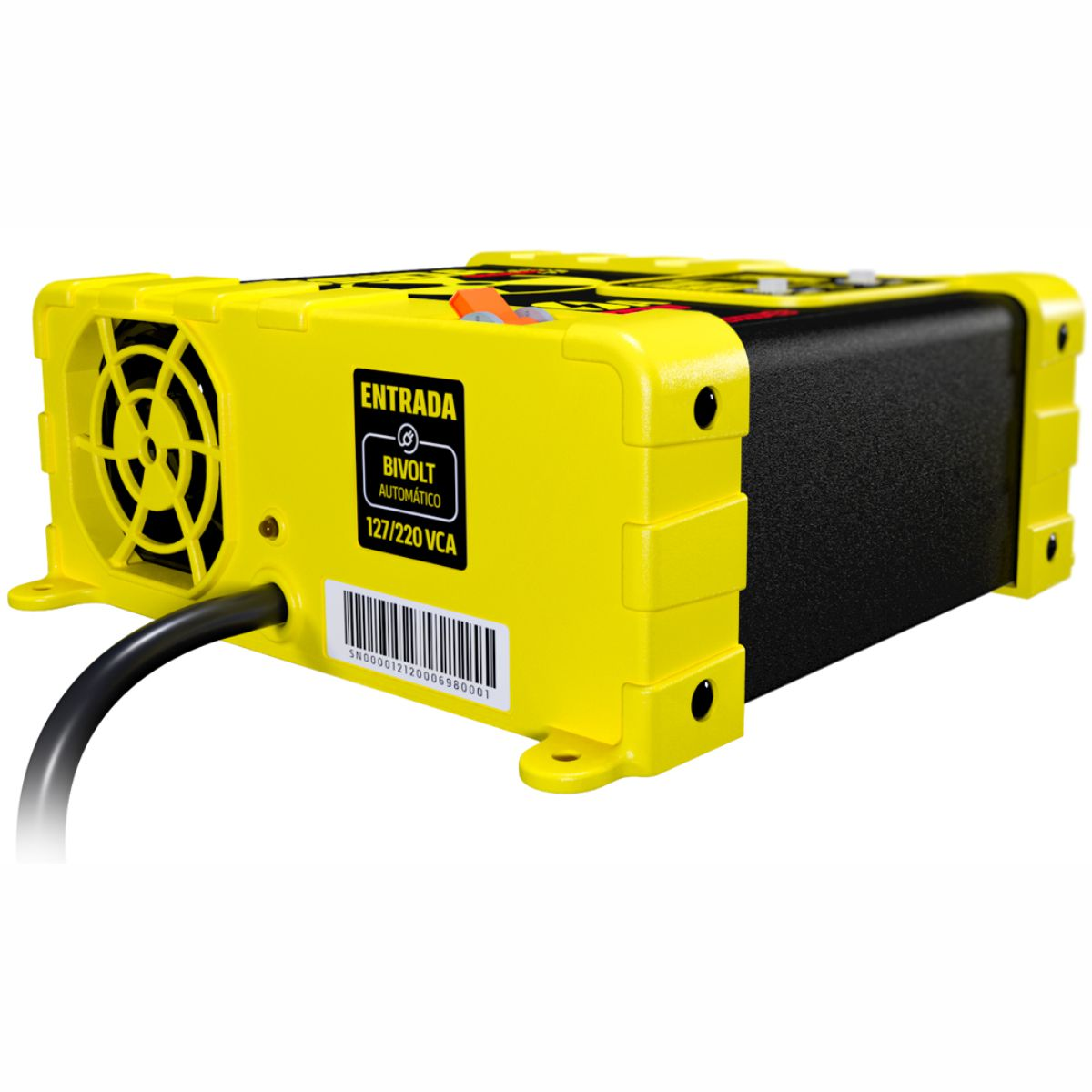 Fonte e Carregador Usina 50A Smart 12 Volts com Voltímetro e Amperímetro Bivolt