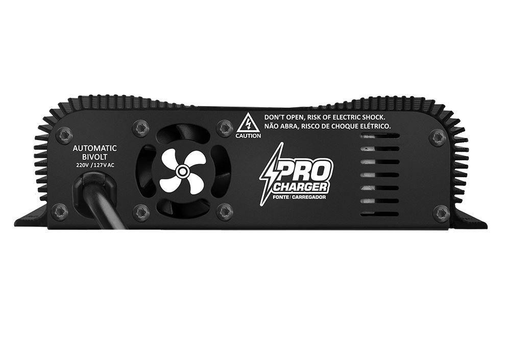 Fonte Carregador de Bateria Taramps Pro Charger 60A Bivolt com Voltímetro e Amperímetro