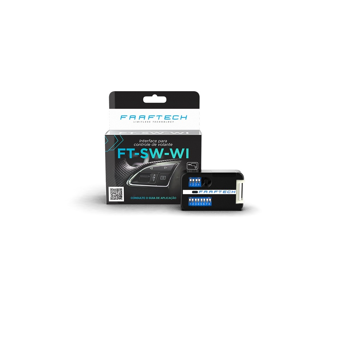 Interface de Volante universal para carros com entrada analógica FT-SW-WI