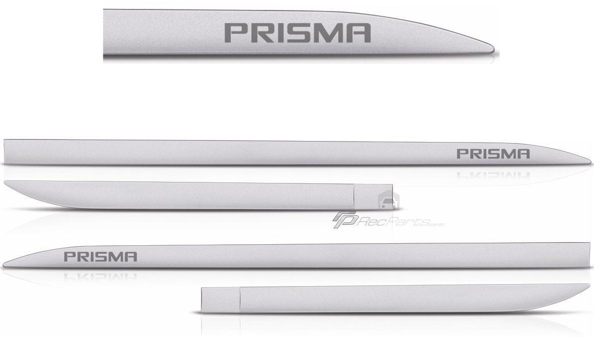 Jogo de Friso Lateral GM Prisma Prata Swtchblade