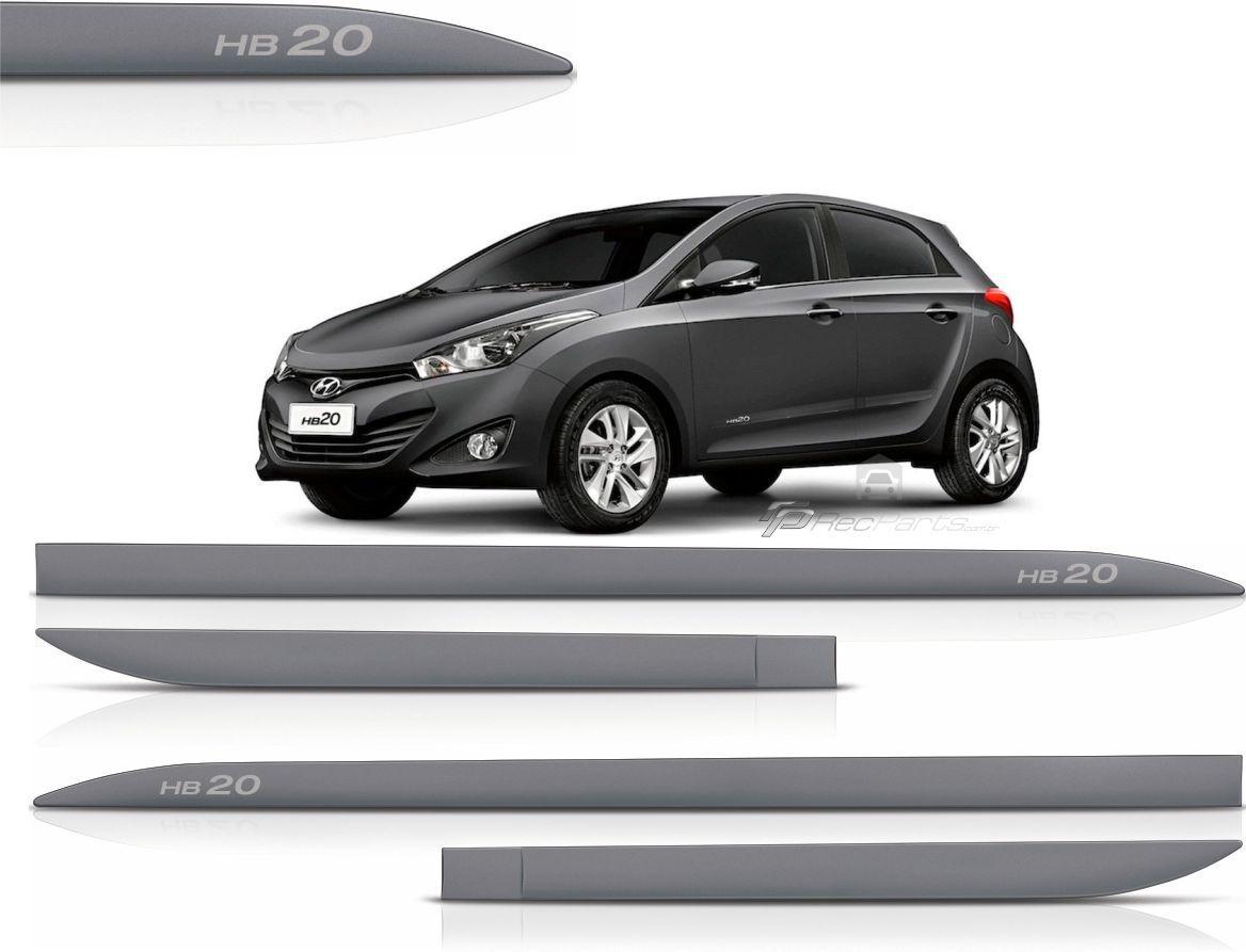 Jogo de Friso Lateral Hyundai HB20 Cinza Titanium
