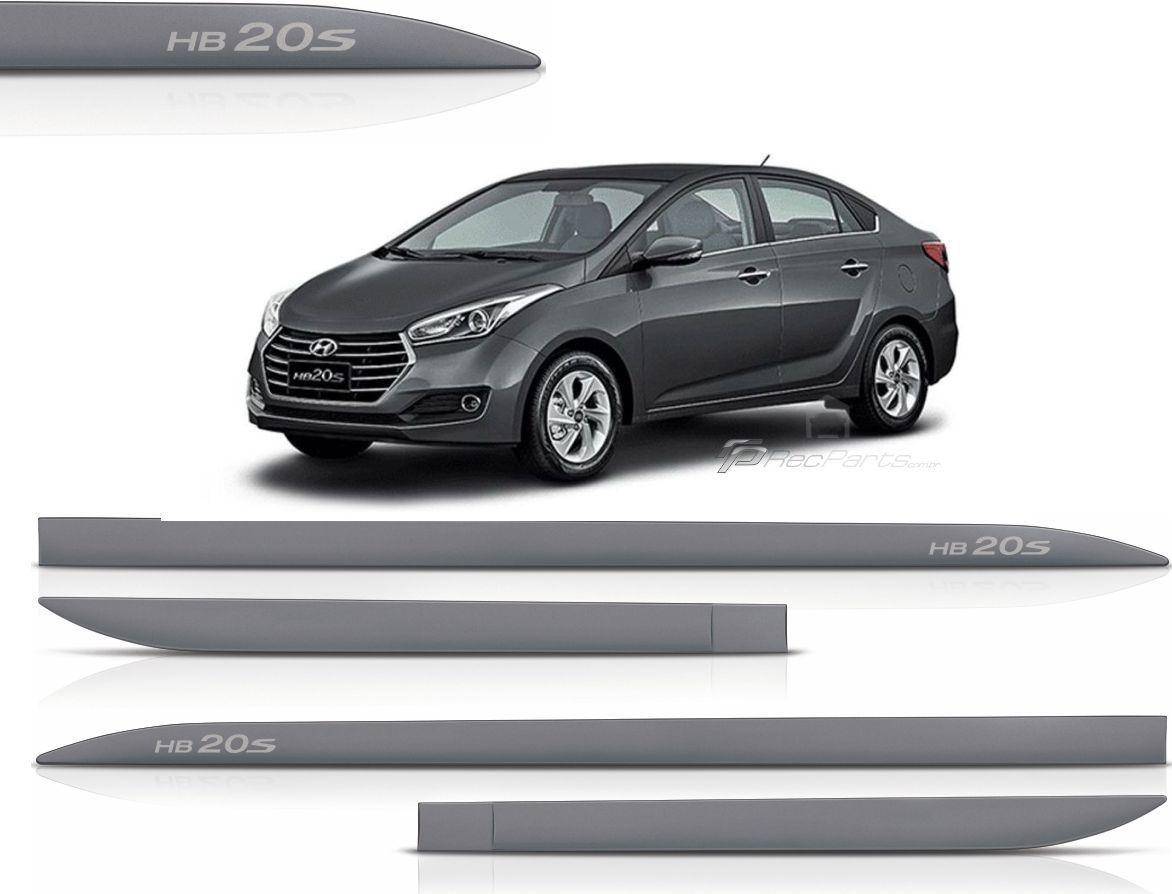 Jogo de Friso Lateral Hyundai HB20S Cinza Titanium