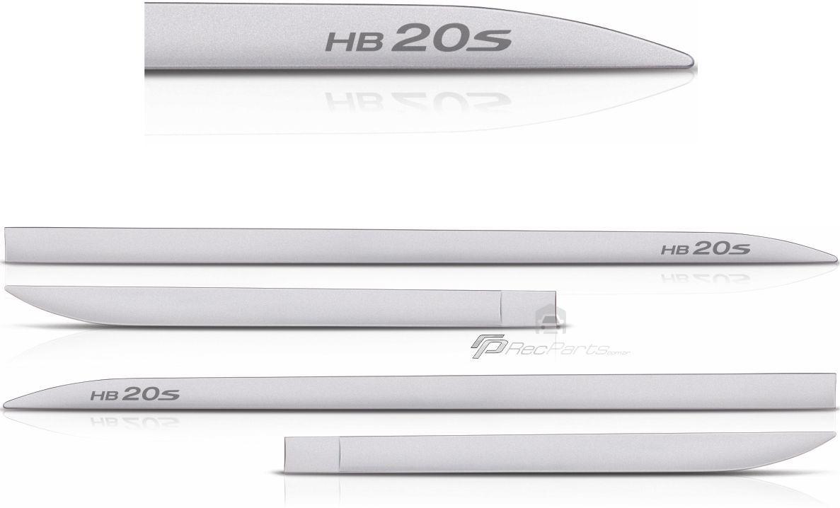 Jogo de Friso Lateral Hyundai HB20S Prata Metal