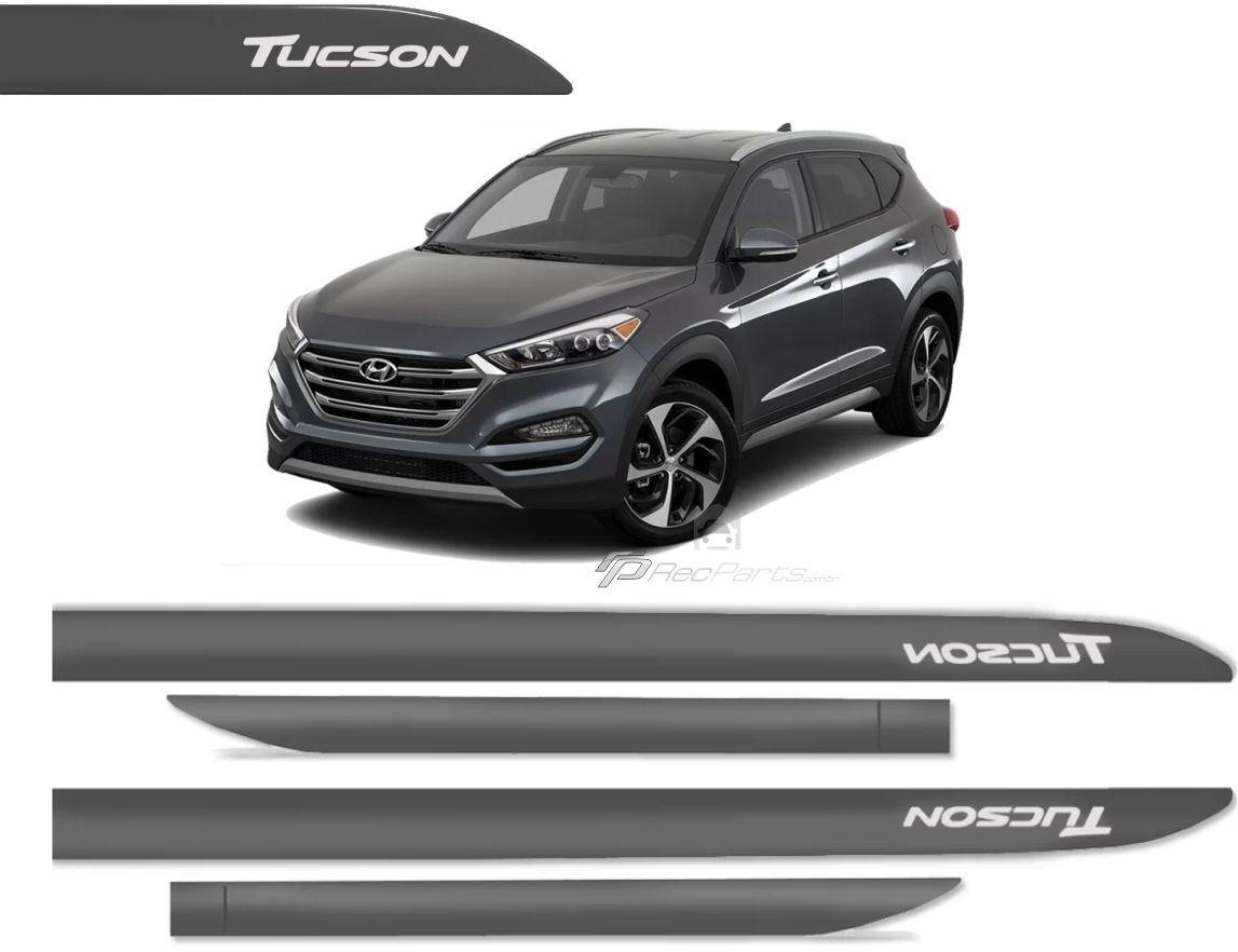 Jogo de Friso Lateral Hyundai Tucson Cinza Metalizado