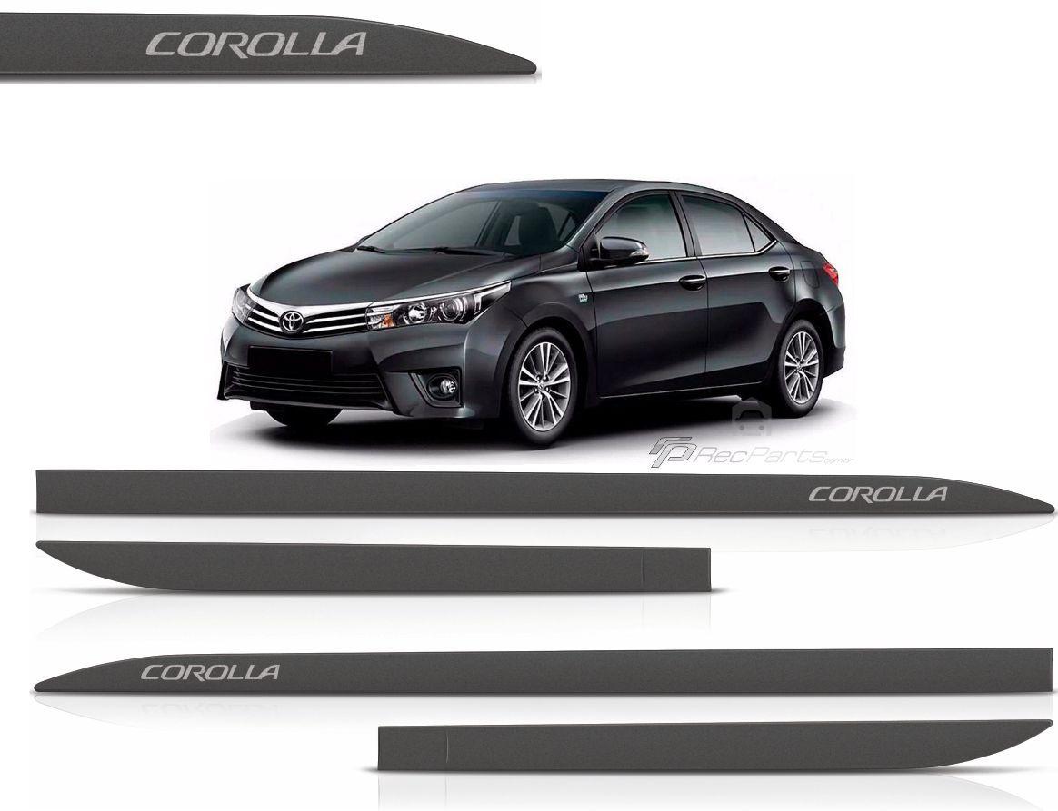 Jogo de Friso Lateral Toyota Corolla Preto Eclipse
