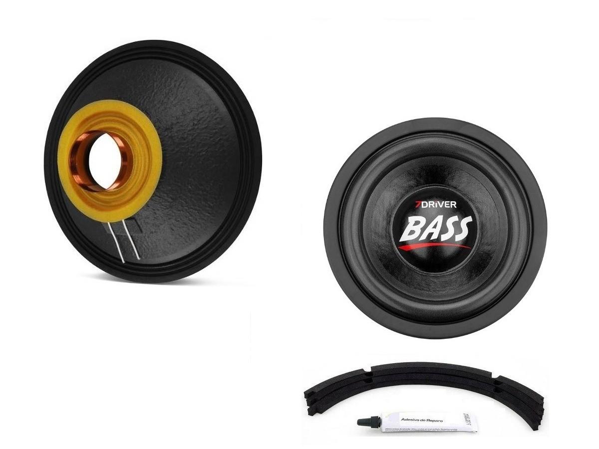 "Kit Reparo para Alto Falante Sub Woofer 7Driver Bass 1K2 10"" 600W Rms 4+4 Ohms"