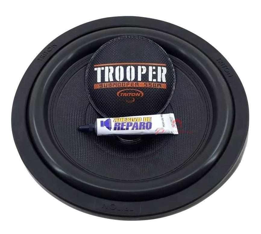 "Kit Reparo para Alto Falante Sub Woofer Triton Trooper 12"" 550W Rms 4 Ohms"