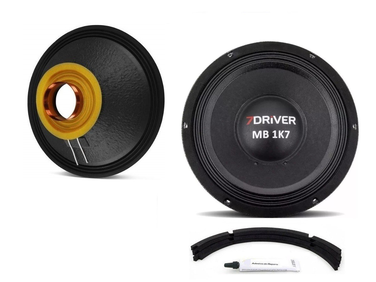 """Kit Reparo para Alto Falante Woofer 7Driver MB 1K7 12"""" 850W Rms 4 Ohms"""