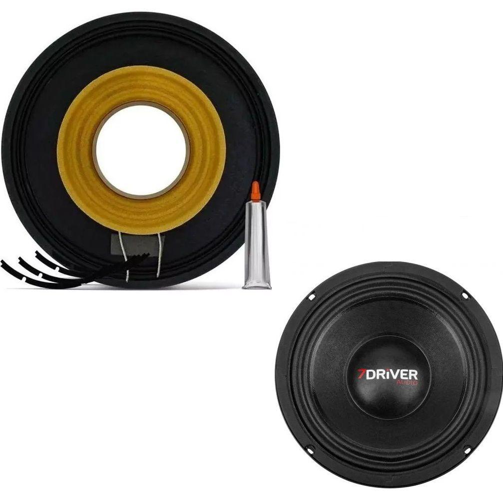 """Kit Reparo para Alto Falante Woofer 7Driver MB 400S 8"""" 200W Rms 4 Ohms"""