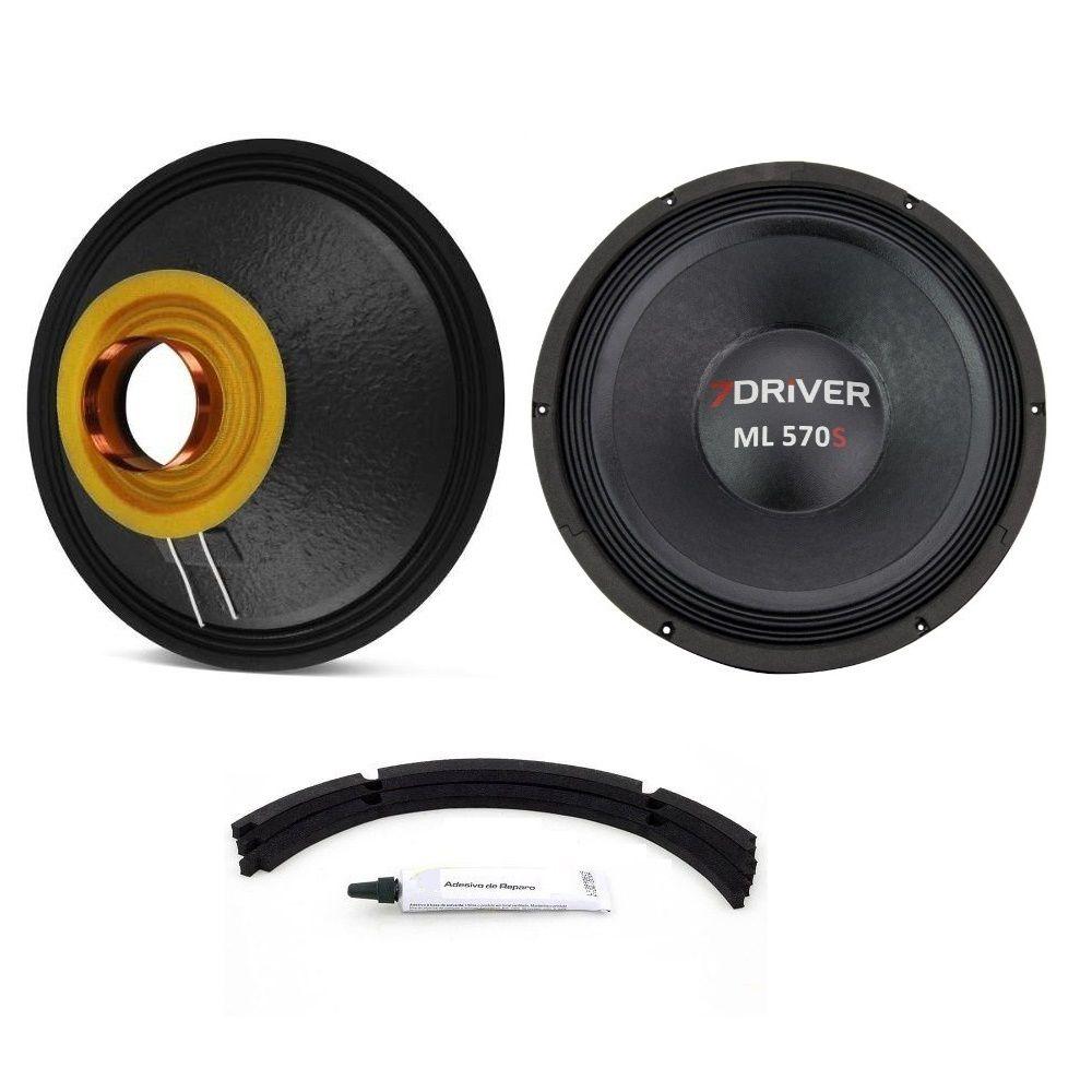 """Kit Reparo para Alto Falante Woofer 7Driver ML 570S 12"""" 570W Rms 4 Ohms"""