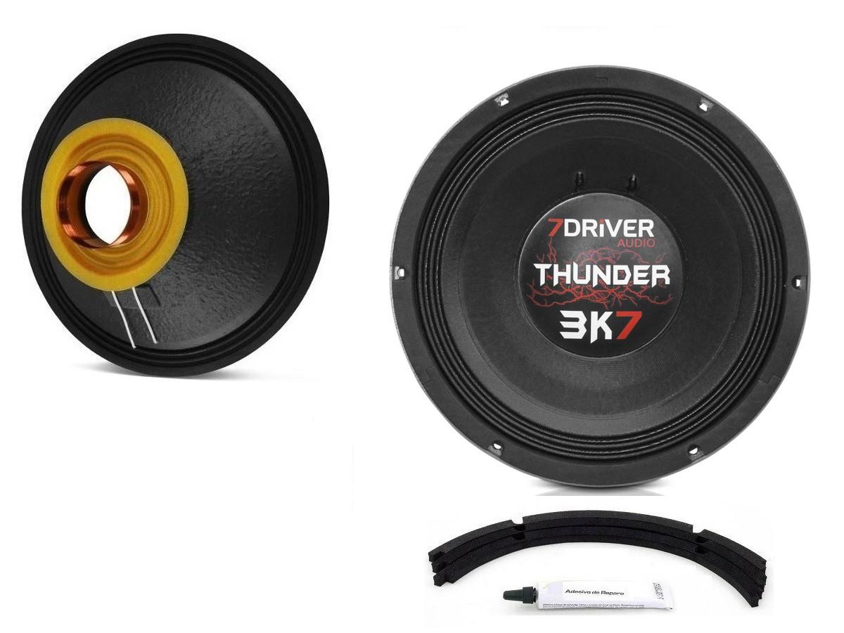 "Kit Reparo para Alto Falante Woofer 7Driver Thunder 3K7 12"" 1850W Rms 4 Ohms"