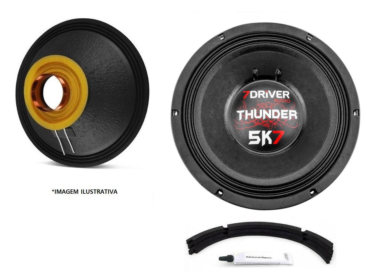 "Kit Reparo para Alto Falante Woofer 7Driver Thunder 5K7 12"" 2850W Rms 2 Ohms"