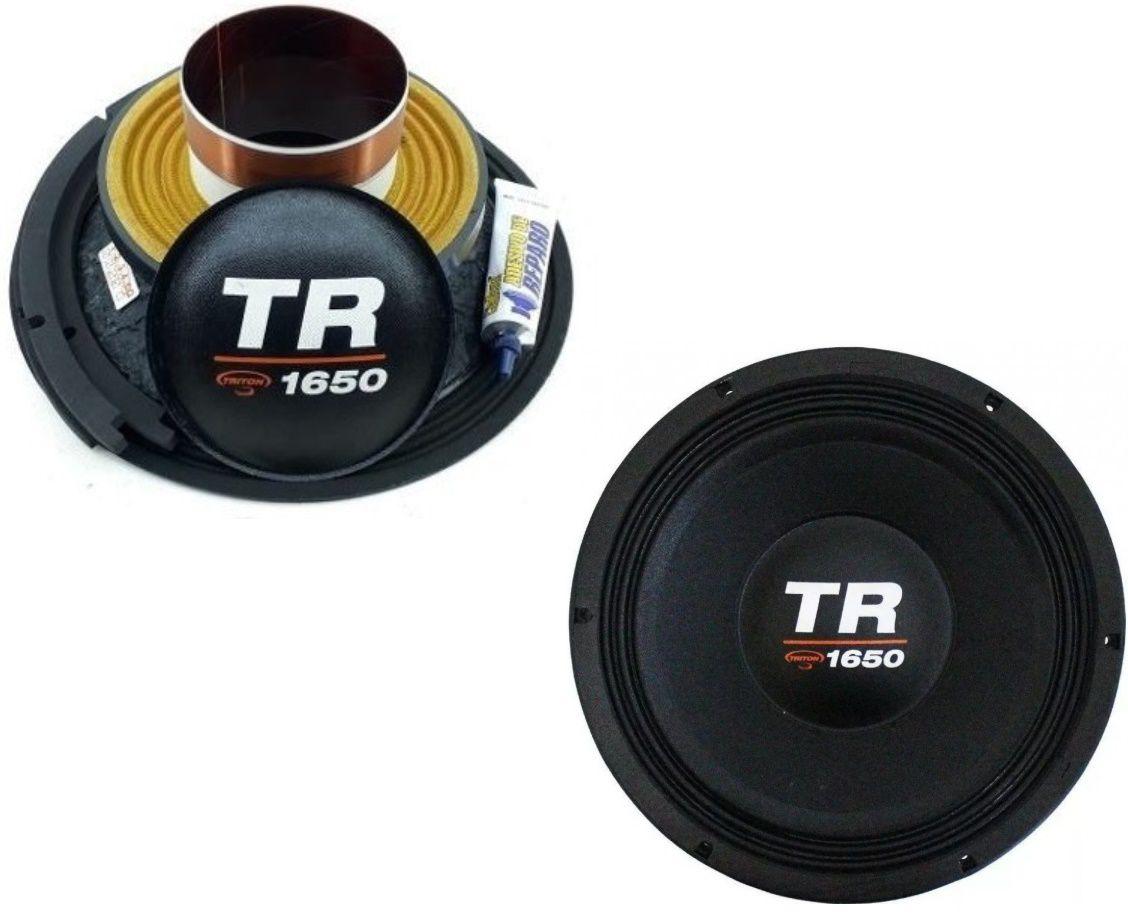 "Kit Reparo para Alto Falante Woofer Triton 12"" TR 1650 1650W Rms 4 Ohms"