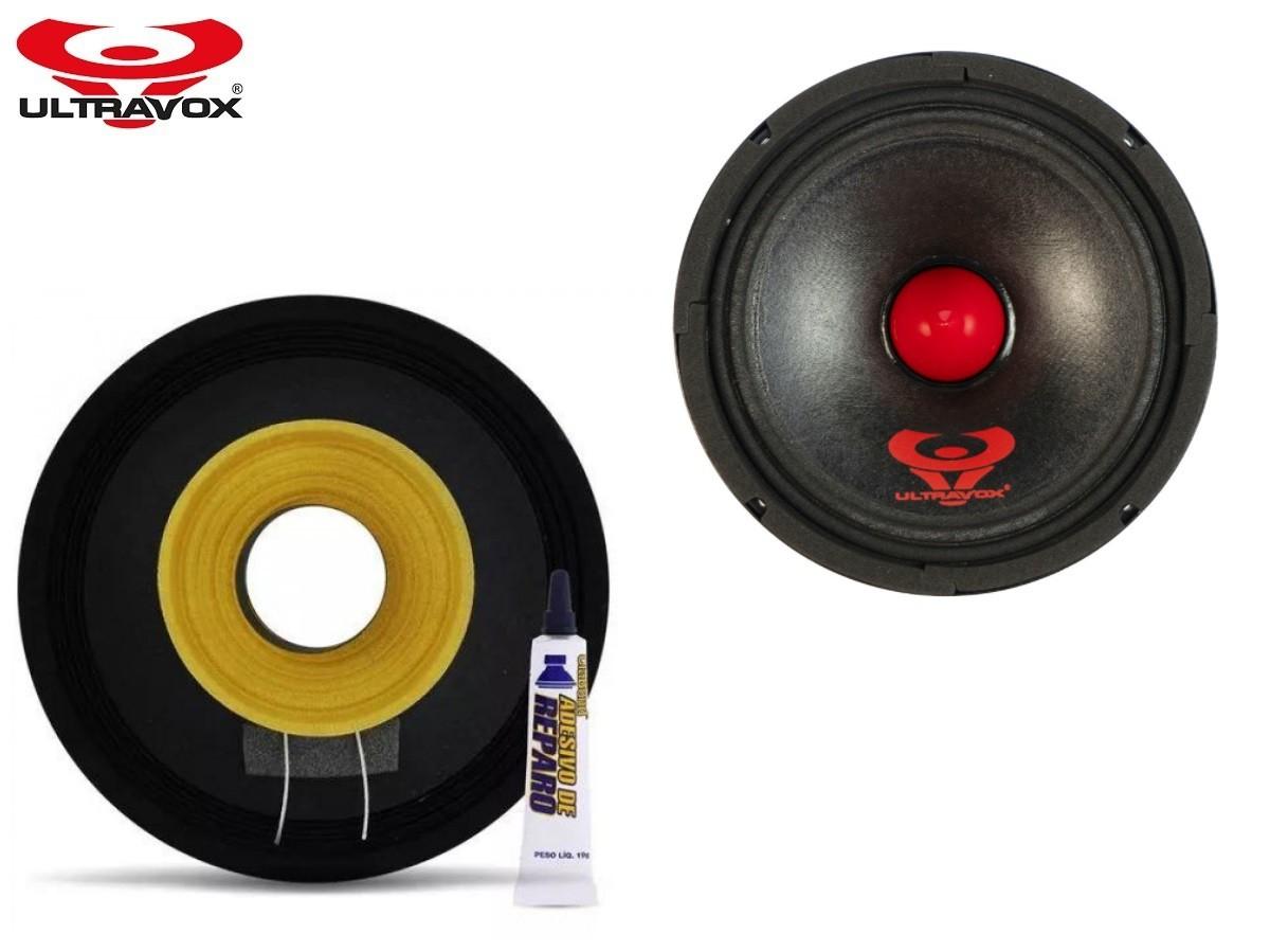 """Kit Reparo para Alto Falante Woofer Ultravox Ultra 200+ 6"""" 200W Rms 4 Ohms"""