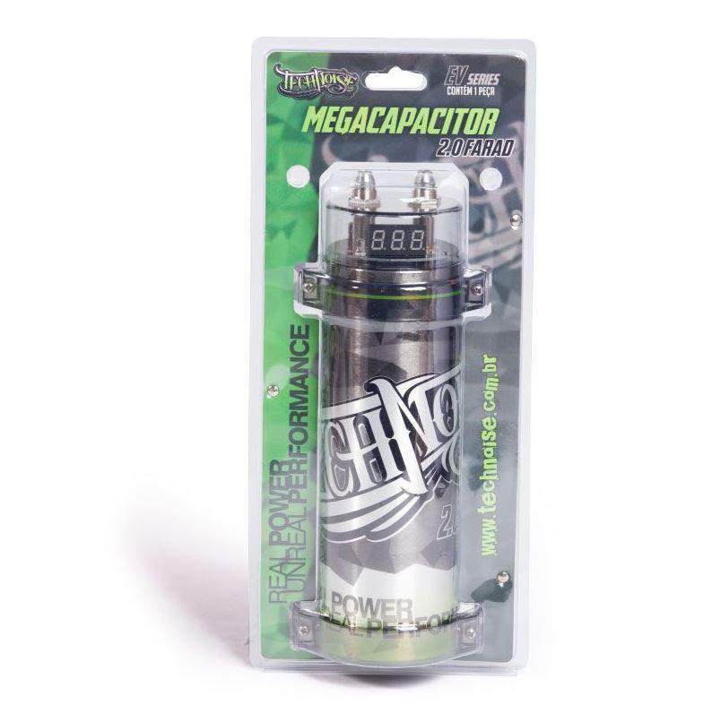 Mega Capacitor 2 Farad Technoise Com Voltímetro