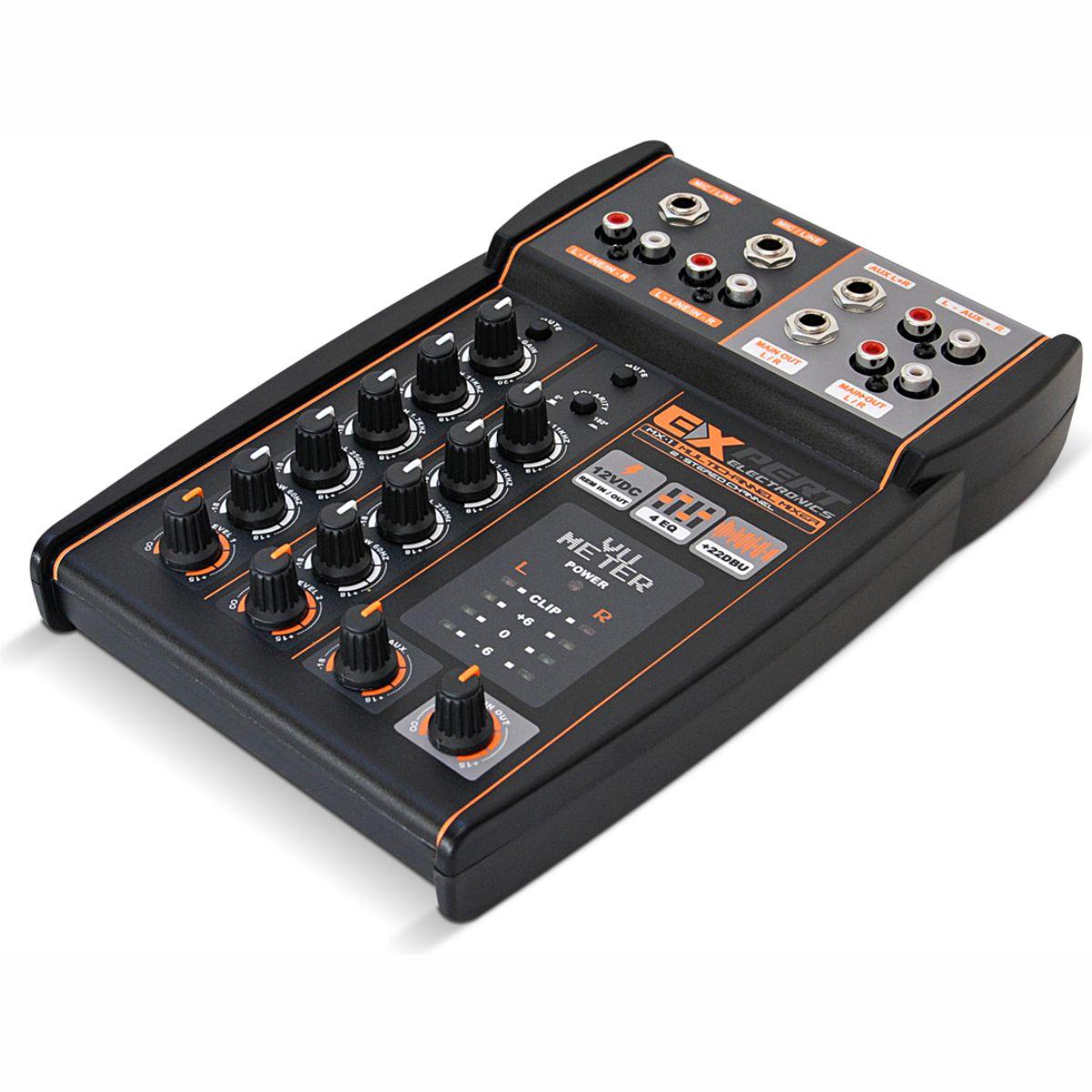 Mesa de som Expert Electronics MX1 4 Canais 2 Vias