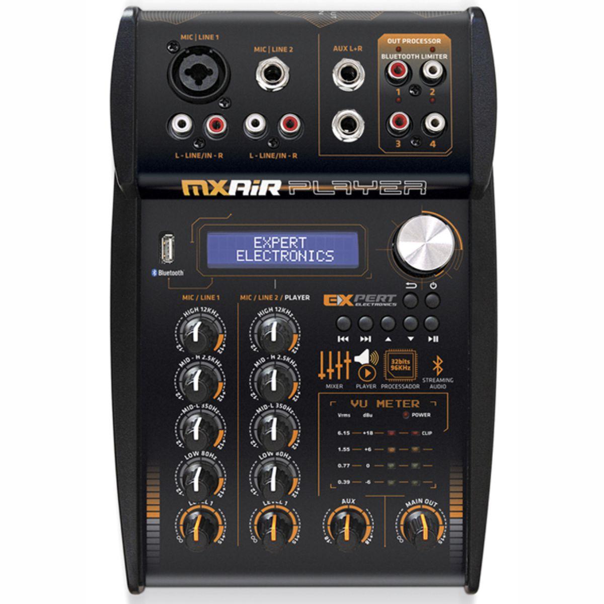 Mesa de som Expert Electronics MX Air Player Bluetooth com Processador