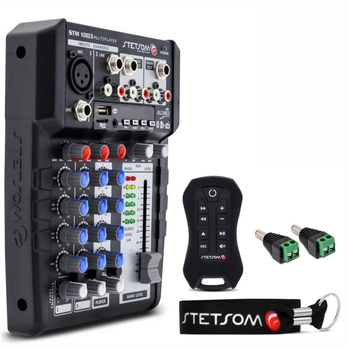 Mesa de som Stetsom STM1003 3 Canais 4 Bandas