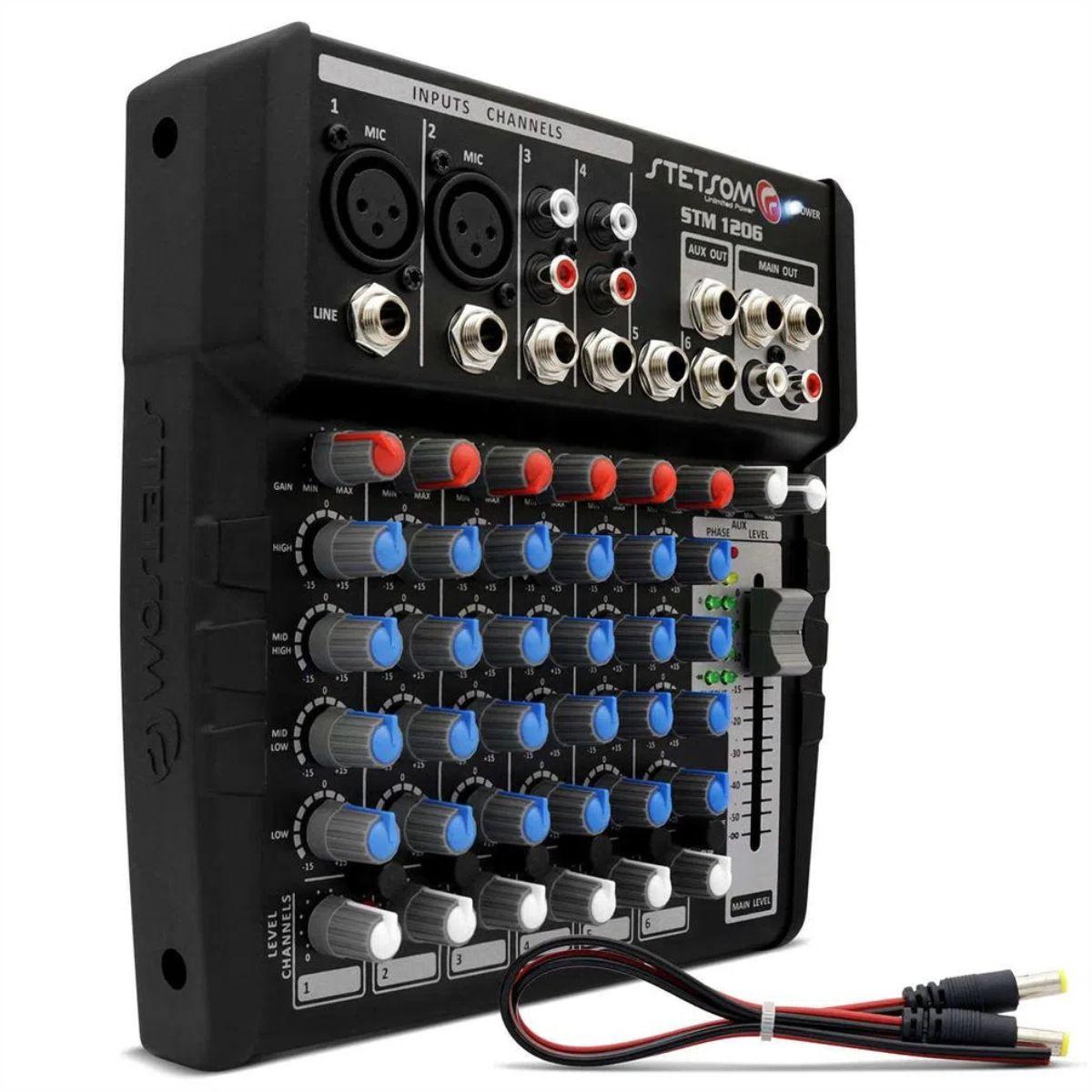 Mesa de som Stetsom STM1206 6 Canais 4 Bandas