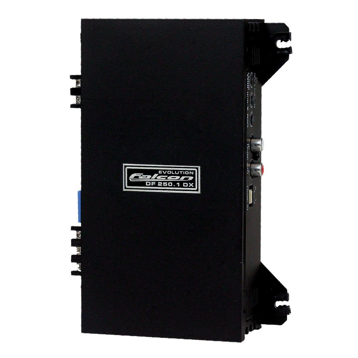 Módulo Amplificador Falcon DF250.1DX 250W Rms 2 Ohms 1 Canal Especifico para Subwoofer