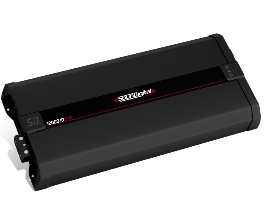 Módulo Amplificador SounDigital SD12000.1D Evo 12000W Rms 1 Ohms 1 Canal