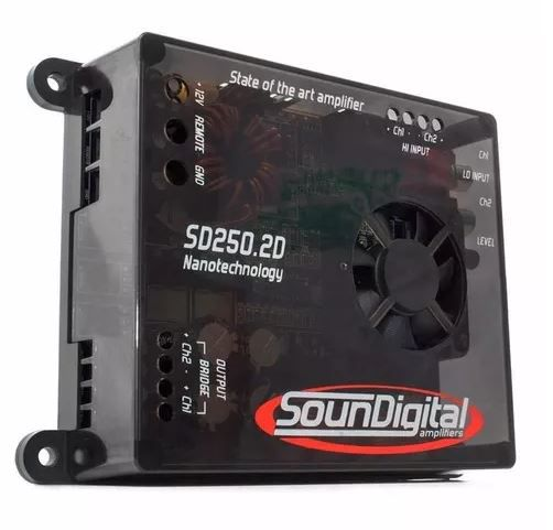 Módulo Amplificador Soundigital SD250.2D Nano 250W Rms 2 Ohms 2 Canais